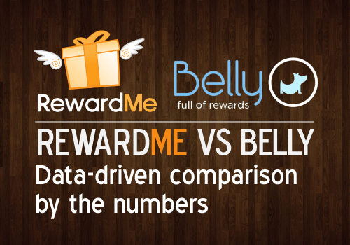 RewardMe vs Belly Data-driven comparison by the numbers